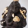 Ганеша (бивень мамонта, черное дерево, серебро)