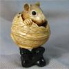 миниатюра из бивня мамонта Мышка в грецком орехе